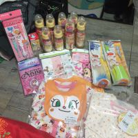 Baby bottles and clothes from Japan