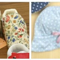 Baby cap and shoes hakka