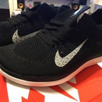 Nike Free 4.0 Flyknit Running Shoe  Bla