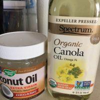 coconut oil , canola oil