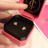 Juicy Couture PUFFED HEART STUD EARRING