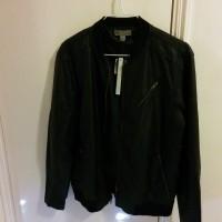 1 x Faux Leather Moto Bomber Jacket
