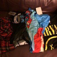 HOT TOPIC T-shirts, leggings, bracelets