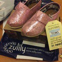 toms Pink Glitter Classics - Tiny