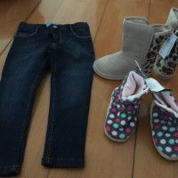 Old Navy boots + jeans + clothes